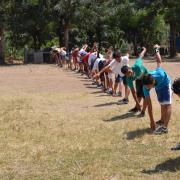 Cours d'education physique dispensé par notre président