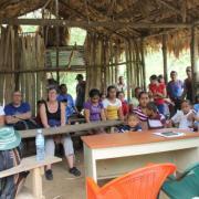 réunion avec les parents d'élèves du hameau